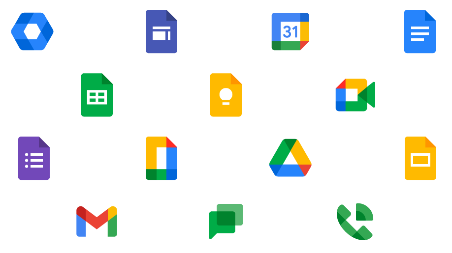 Image of all Google Workspace icons